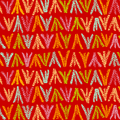 Red Crayons fabric by oliverands on Spoonflower - custom fabric