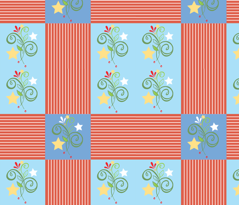 starsnstripespatches fabric by leslipepper on Spoonflower - custom fabric