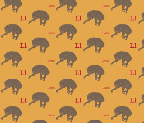 L is for Loris fabric by maile on Spoonflower - custom fabric