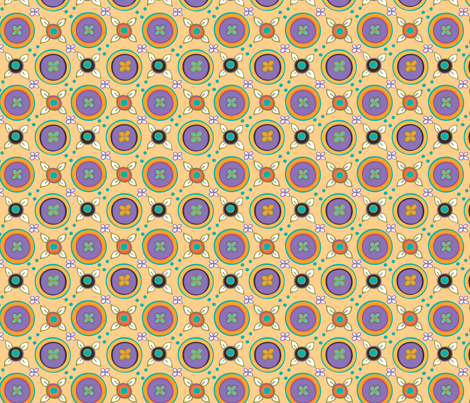 Leaflatticeapricot fabric by leslipepper on Spoonflower - custom fabric