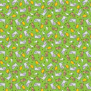 dog/cat/duck/turtle pattern