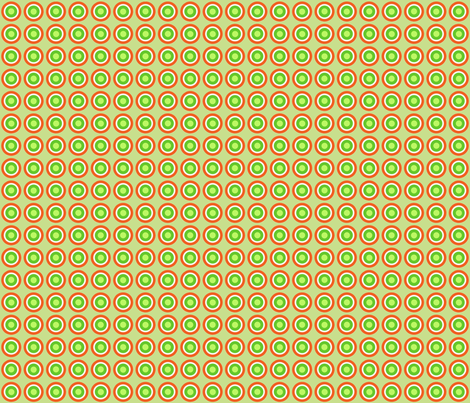 Orange Circles fabric by connielou on Spoonflower - custom fabric