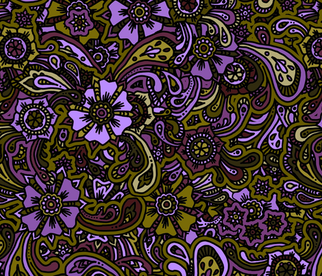 Neon Flowers fabric by pepstar on Spoonflower - custom fabric