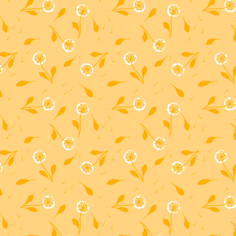 Dandelion fabric by oliverands on Spoonflower - custom fabric
