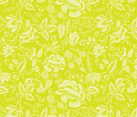 Cotton Floral Block Fabric fabric by kippygo on Spoonflower - custom fabric