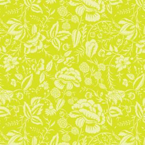 Cotton Floral Block Fabric