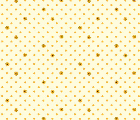 Hearts n Flowers - Glitter fabric by inscribed_here on Spoonflower - custom fabric