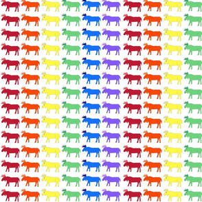 Rainbow Moose fabric