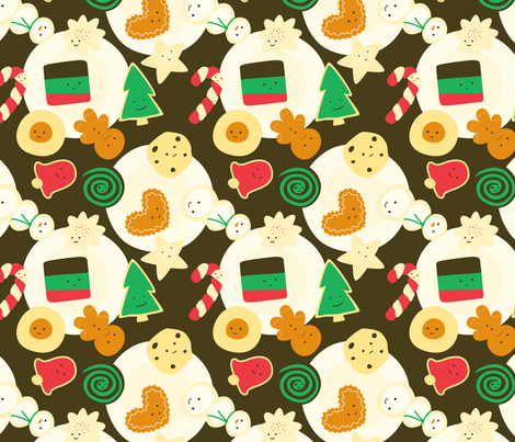 Cookies for Santa fabric by wildolive on Spoonflower - custom fabric