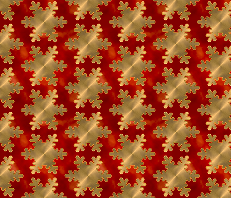 GOLD_AND_RED_CHRISTMAS fabric by artyfact on Spoonflower - custom fabric