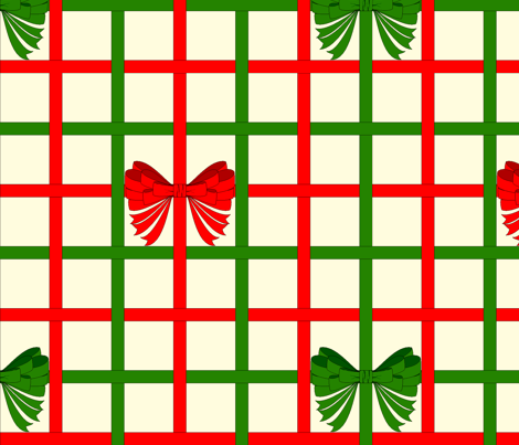 vll_xmas_ribbon_weave_with_bows fabric by victorialasher on Spoonflower - custom fabric