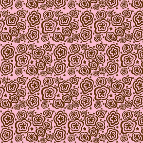 Torque Flowers Pink and Brown