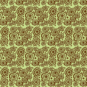 Torque Flowers Lime and Brown