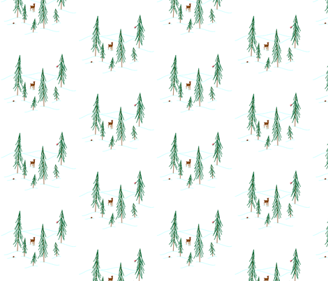vll_stylized_winter_scene_1 use zoom fabric by victorialasher on Spoonflower - custom fabric
