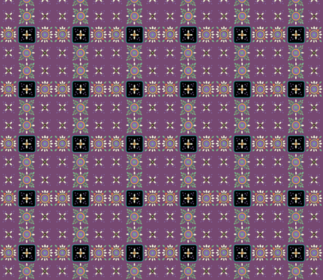 leafmandalasplum fabric by leslipepper on Spoonflower - custom fabric