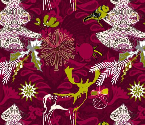 Christmas print fabric by renule on Spoonflower - custom fabric