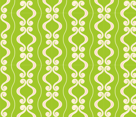 pink_green_swirls fabric by yellowmums on Spoonflower - custom fabric
