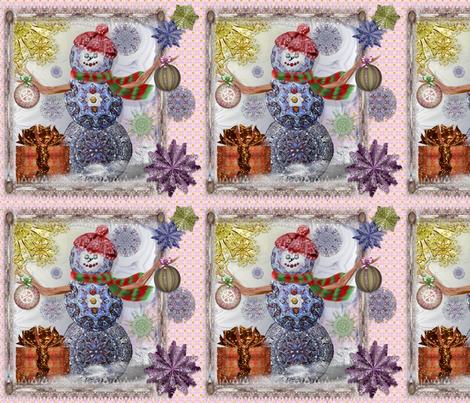 SnowmanHoliday fabric by travlynwomyn on Spoonflower - custom fabric