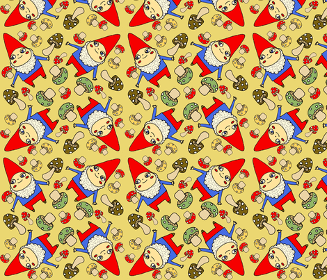 moremushrooms fabric by heidikenney on Spoonflower - custom fabric