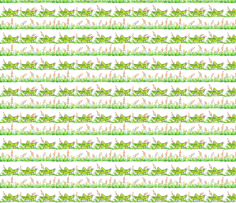 grasshopper fabric by connielou on Spoonflower - custom fabric