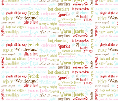 Wonderland Words fabric by danahollis on Spoonflower - custom fabric