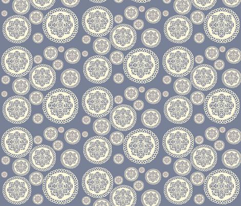 Blue Doilies fabric by heidikenney on Spoonflower - custom fabric