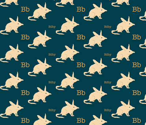 B is for Bilby fabric by maile on Spoonflower - custom fabric