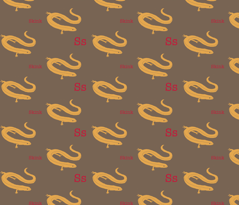 S is for Skink fabric by maile on Spoonflower - custom fabric