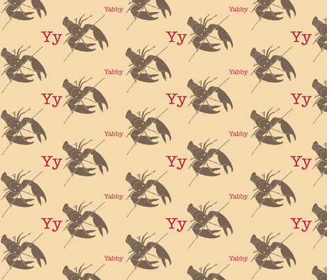Y is for Yabby fabric by maile on Spoonflower - custom fabric