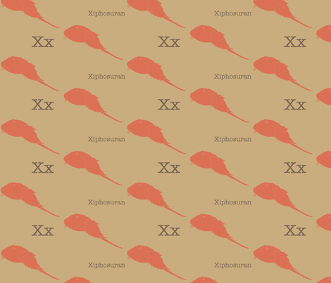 X is for Xiphosuran fabric by maile on Spoonflower - custom fabric