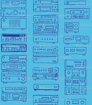 blue stereo
