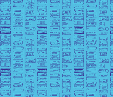blue stereo fabric by primenumbergirl on Spoonflower - custom fabric