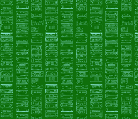 Green in Stereo fabric by primenumbergirl on Spoonflower - custom fabric