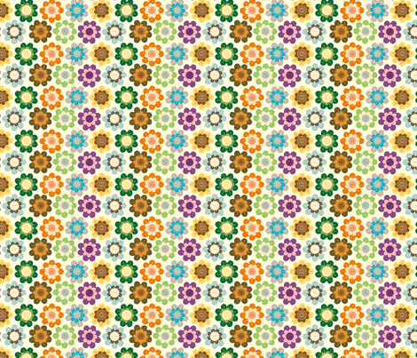 Vintage Flowers fabric by marcelinesmith on Spoonflower - custom fabric