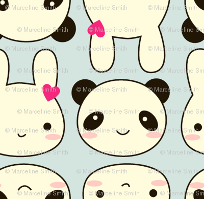 Super Cute Kawaii fabric - marcelinesmith - Spoonflower