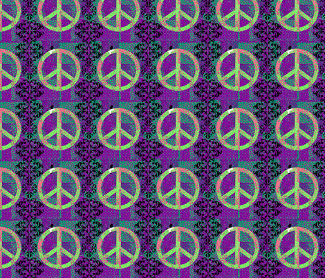 Totally Peaceful fabric by blueberryblonde on Spoonflower - custom fabric
