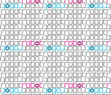 Robo-type fabric by jackieatweelife on Spoonflower - custom fabric