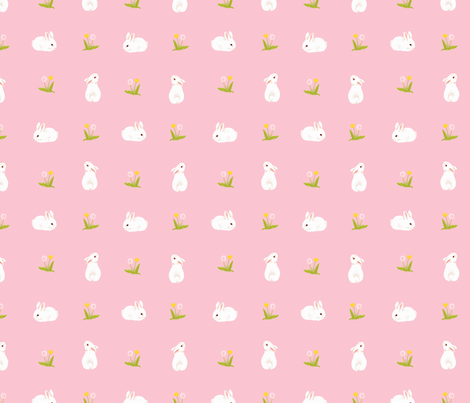 Bunnies fabric by yvonne_herbst on Spoonflower - custom fabric