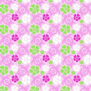 Hawaiian Turtles in Pinks (#31b)