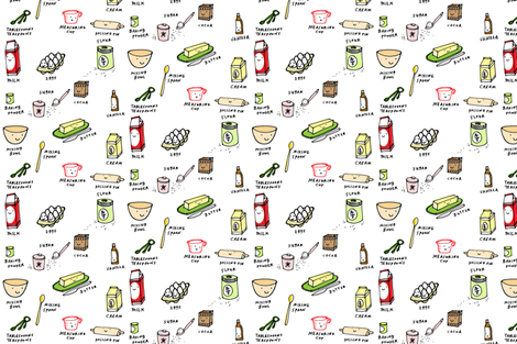 let's bake fabric by anda on Spoonflower - custom fabric