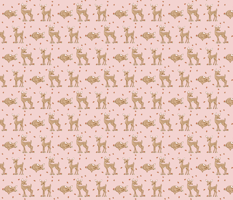 darling deer pink fabric by mytinystar on Spoonflower - custom fabric