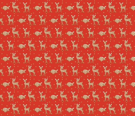 darling deer red fabric by mytinystar on Spoonflower - custom fabric