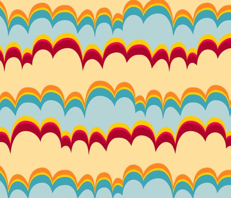 Pepperland : Geo Stripe fabric by bronhoffer on Spoonflower - custom fabric