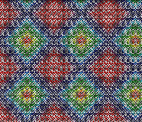 Rainbow Pentacles fabric by rainfeather13 on Spoonflower - custom fabric