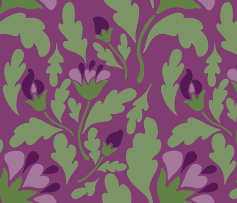 violet floral deep fabric by mytinystar on Spoonflower - custom fabric