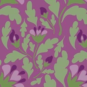 violet floral deep
