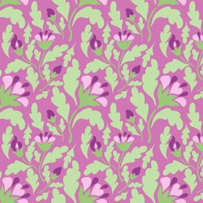 violet floral pale