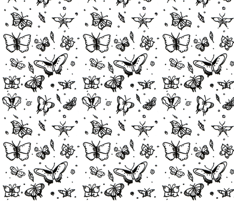 butterfly2_fabric fabric by sequingirlie on Spoonflower - custom fabric