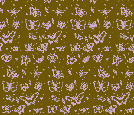 butterflies neopolitan ice cream fabric by sequingirlie on Spoonflower - custom fabric