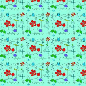 Birds & Flowers-ed